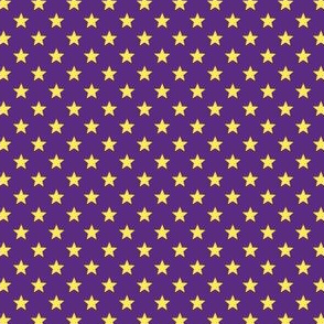 Large Yellow Stars on Dark Purple