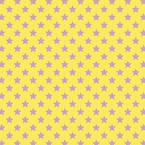 Large Purple Stars on Light Yellow