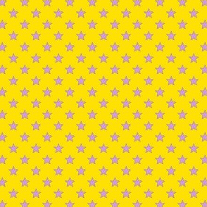 Large Purple Stars on Dark Yellow