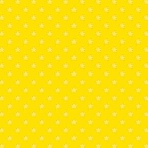 Medium Yellow Stars on Dark Yellow