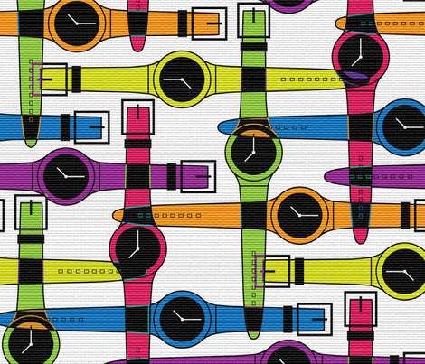 What time is it? fabric by jenflorentine on Spoonflower - custom fabric