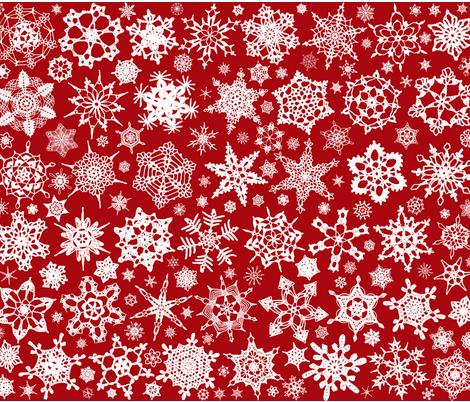 Snowcatcher Crochet Red fabric by snowcatcher on Spoonflower - custom fabric