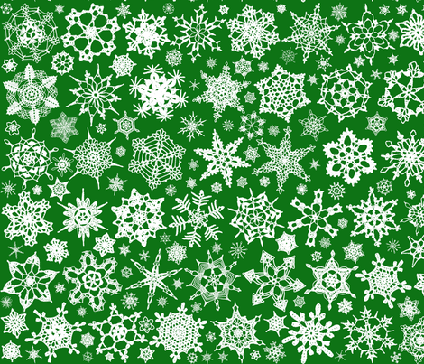 Snowcatcher Crochet Green fabric by snowcatcher on Spoonflower - custom fabric