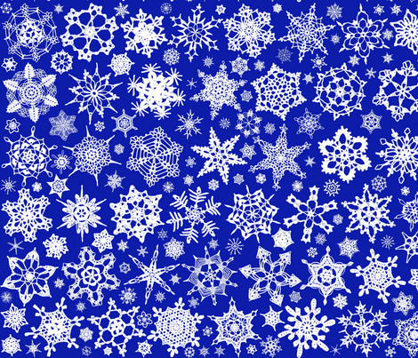Snowcatcher Crochet Blue fabric by snowcatcher on Spoonflower - custom fabric