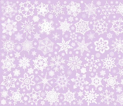 Snowcatcher Crochet Lavender 2 fabric by snowcatcher on Spoonflower - custom fabric