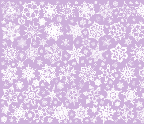 Snowcatcher Crochet Lavender 3 fabric by snowcatcher on Spoonflower - custom fabric