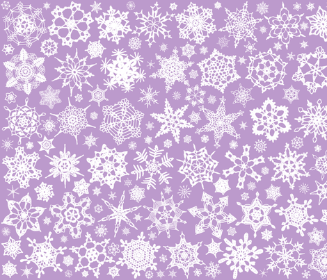 Snowcatcher Crochet Lavender 4 fabric by snowcatcher on Spoonflower - custom fabric