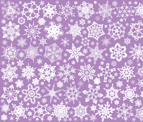 Snowcatcher Crochet Lavender 5 fabric by snowcatcher on Spoonflower - custom fabric