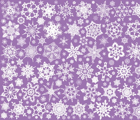 Snowcatcher Crochet Lavender 6 fabric by snowcatcher on Spoonflower - custom fabric