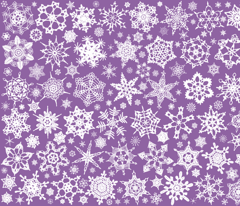 Snowcatcher Crochet Lavender 7 fabric by snowcatcher on Spoonflower - custom fabric