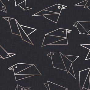 origami birds paynes grey
