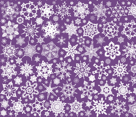 Snowcatcher Crochet Lavender 9 fabric by snowcatcher on Spoonflower - custom fabric