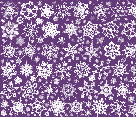 Snowcatcher Crochet Lavender 10 fabric by snowcatcher on Spoonflower - custom fabric