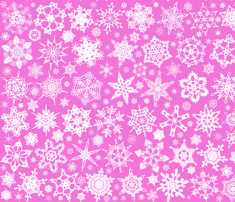 Snowcatcher Crochet Pink fabric by snowcatcher on Spoonflower - custom fabric