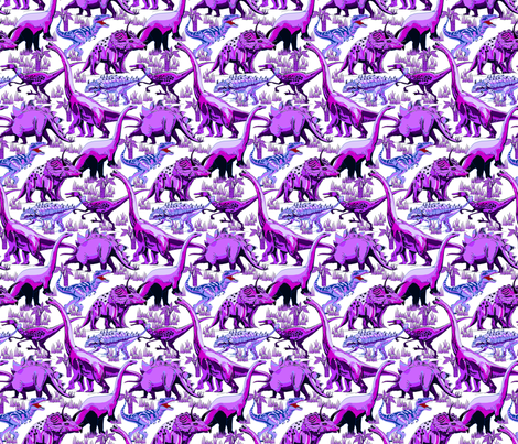 Purple dinosaurs fabric house of heasman spoonflower for Purple dinosaur fabric
