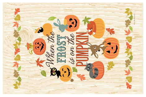 Frost on the Pumpkin Banner Flag fabric by sheri_mcculley on Spoonflower - custom fabric
