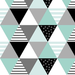 Cheater Quilt Minty Blue