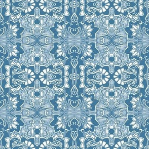 Retro Deco Daffodil Blues
