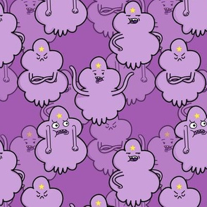 Purple Princess hanging out on Medium Purple