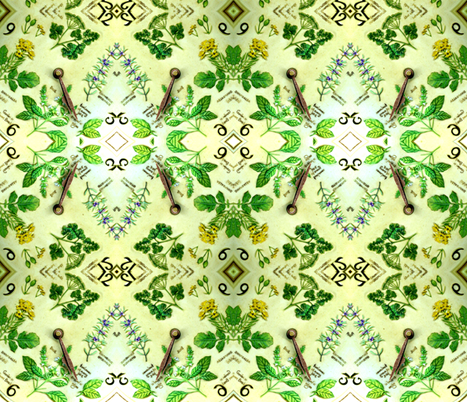 Springtime - Time to grow some herbs fabric by winterblossom on Spoonflower - custom fabric