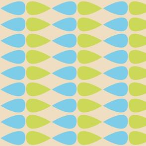 blue green teardrops