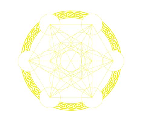 Metatrons_Cube_spoonflower fabric by spirit_stone on Spoonflower - custom fabric