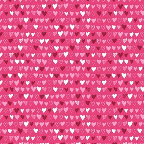 Hearts in love
