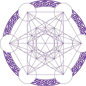 Metatrons_Cube_Purple 40x40cms