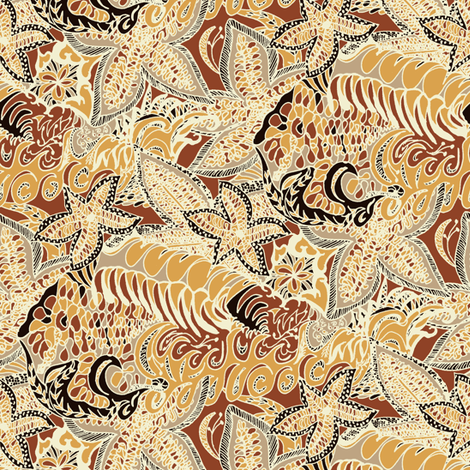 A Wide Brown Land - Medium Scale fabric by rhondadesigns on Spoonflower - custom fabric