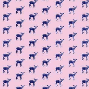 DearDeer Navy on Pink