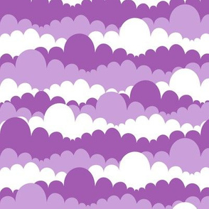 Clouds in White and Purples