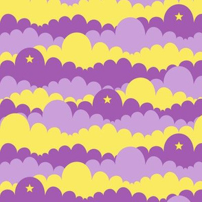 Clouds in Yellow and Purple