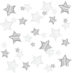 Monochrome Sketched Stars