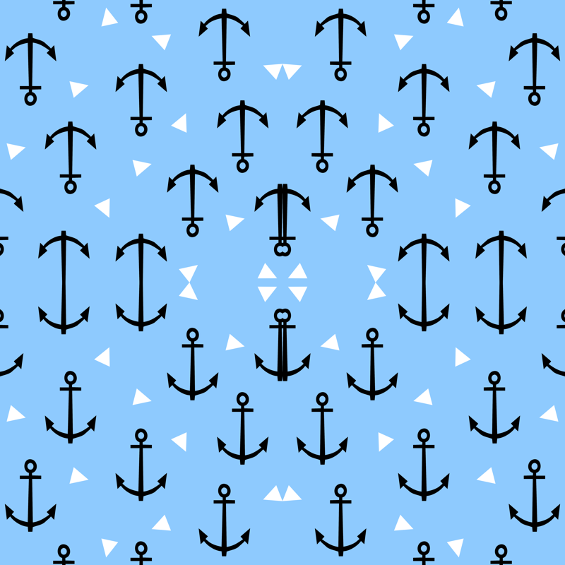 anchor tri triangle blue cute nautical boy nursery baby leggings