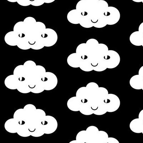 happy cloud black