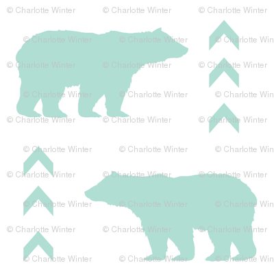 mint bear chevron
