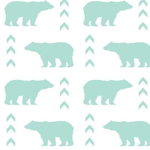mint bear chevron