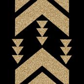 gold glitter black chevron stripe