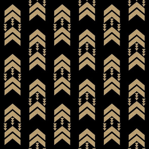 gold glitter black chevron stripe