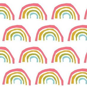 rainbow kids happy rainbows pastel pink girls