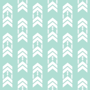 mint chevron stripe