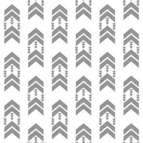 silver glitter chevron stripe