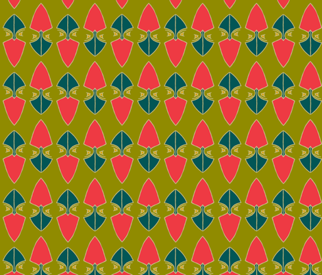 Up North Gingers on green fabric by ms_majabird on Spoonflower - custom fabric