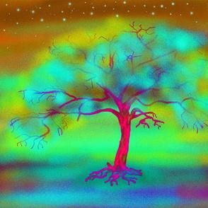 LUMINESCENT TREE FAIRY LIGHT PILLOW PANEL