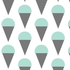 ice cream cone mint