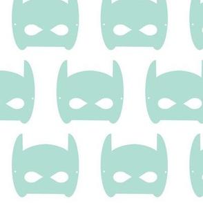 bat hero mask mint - large