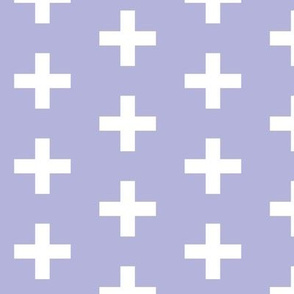 lavender white cross plus