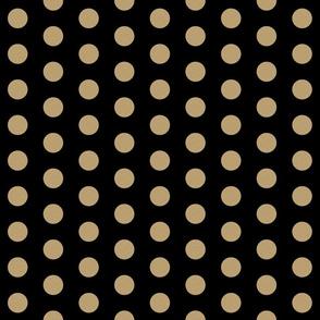 gold glitter polka dot