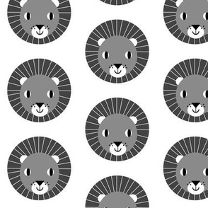 lion kids charcoal minimal monochrome kids design for fun nursery