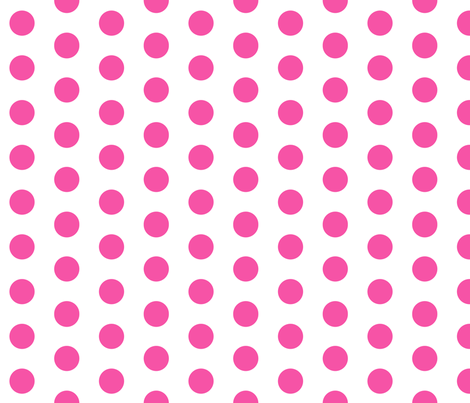 magenta polka dots fabric by charlottewinter on Spoonflower - custom fabric